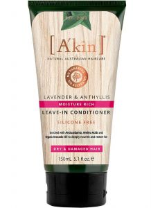 A'kin Rich Leave in Conditioner - Lavender & Anthyllis for All Hair Types 150ml