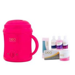 Deo 1000cc Wax Heater Kit For Warm Crème Hot Wax Lotions - Pink