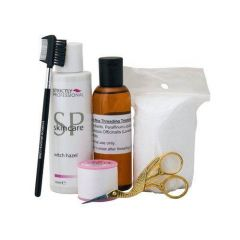 Deo Threading Kit Oil Cottono Pads Scissors and More