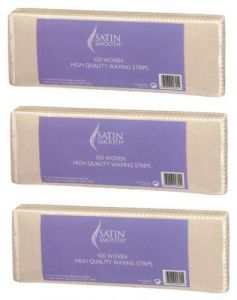 Satin Smooth 100 Woven High Quality Waxing Removal Strips x 3