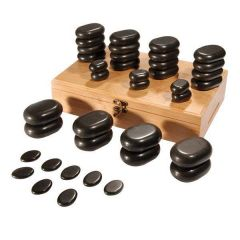 Deo 36 Pieces Assorted Sizes Massage Stone Set