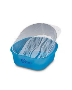 Belava Bowl Pedicure Starter Kit Foot Bath Tub With 20 Disposable Liners - Blue