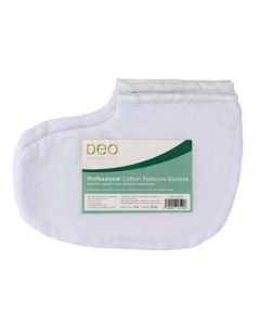 Deo Pedicure Booties 100% Cotton Paraffin Wax Treatments - White